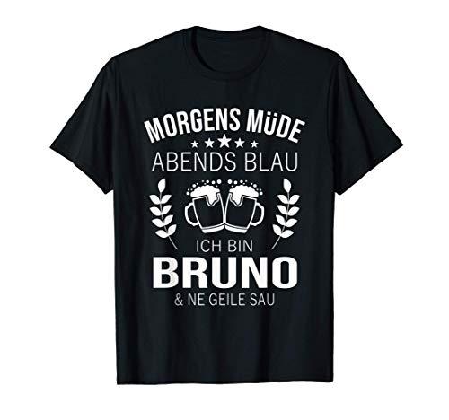 Herren Bruno Vorname Geschenk Geburtstag Lustiges Bier Sprüche T-Shirt