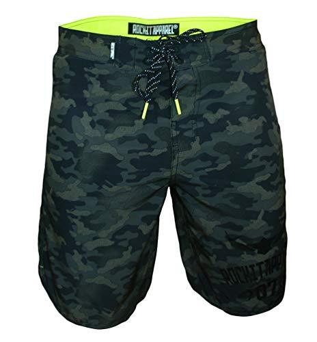 ROCK-IT Apparel® Bañadores con Camuflaje para Hombres, Secado rapido, Boardshorts, bañadores Cortos en Tallas S-3XL Camo Green