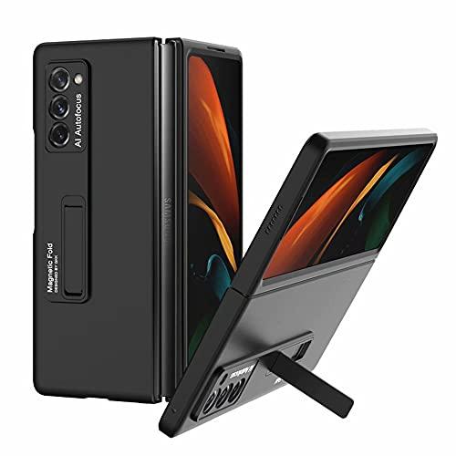 BAIDIYU Hülle für Samsung Galaxy Z Fold 2 5G, Superdünner 360-Grad-Ganzkörperschutz, ultradünne Glatte Oberfläche, Anti-Drop- & Kratzfeste Harte ZJPC-Schutzhülle.(Schwarz)