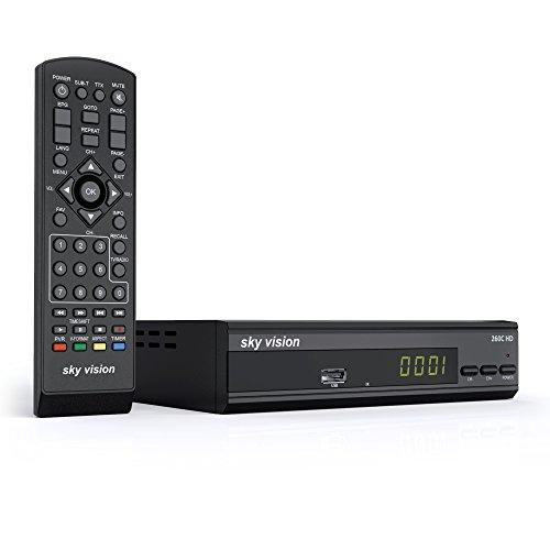 sky vision 260 C-HD (DVB-C Kabelreceiver, für digitales Kabelfernsehen, mit HDMI, USB und SCART Anschluss, digitaler Kabeltuner, u.a. für Kabel Deutschland und Unitymedia), schwarz