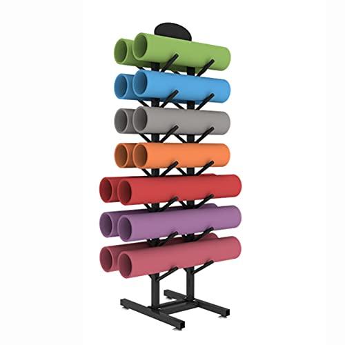 Almacenamiento de Rodillo Espuma Estante Organizador De Colchonetas De Yoga De Gran Capacidad, Estantes Resistentes Para Colchonetas De Yoga De Suelo / Soporte De Almacenamiento De Rodillos De Espuma