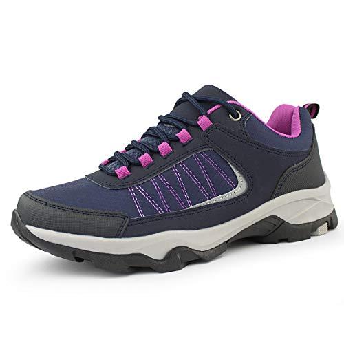 Hawkwell Women's Outdoor Hiking Shoes, Navy Fuchsia PU, 9 M US