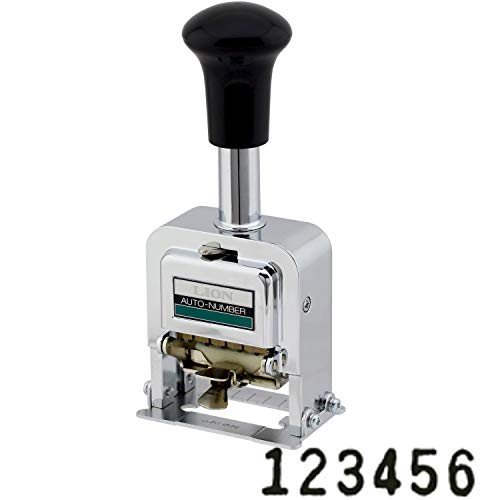 Lion Pro-Line Heavy-Duty Automatic Numbering Machine, 6-Wheel, Gothic, 1 Numbering Machine (C-72)
