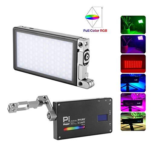 Boling BL-P1 LED Luz de Video 2500-8500K 12W LED RGB para videocámara con cámara 9 Simulaciones de escenarios comunes 360 ° a Todo Color CRI 96 Aluminio Tamaño de Bolsillo de aviación