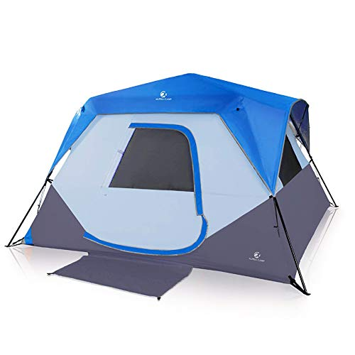 ALPHA CAMP 6 Person Instant Tent for Camping Easy Setup Cabin Tent with Foot Mud - 10' x 9' Blue
