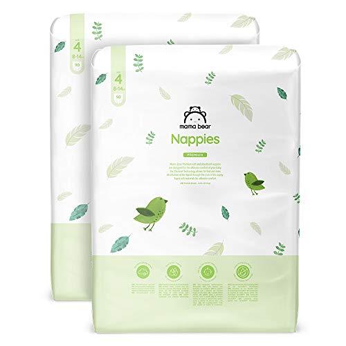 Marca Amazon - Mama Bear - 180 pañales premium - tamaño 4 (8-14kg)