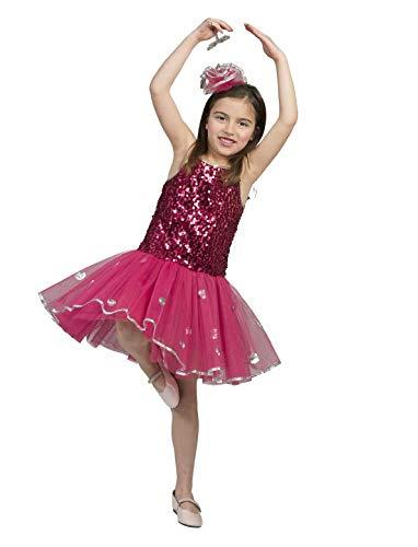 Funny Fashion Pailettenkleid Kinderkostüm pink Tänzerin Ballet Tutu Rock Lady Kostüm Mädchen Star