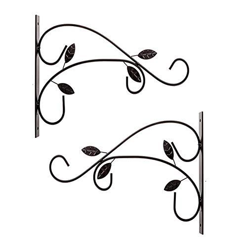 RXING Blumenwandhalter Kleiderbügel Eisen Halterung für Laterne Pflanzgefäß Blumenhänger Eisen Pflanzenhänger Wandhaken Hängekorb Halterungen