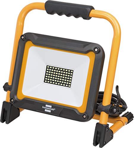 Brennenstuhl Mobiler LED Strahler JARO 5000 M / LED Baustrahler für außen IP65 (LED Arbeitsstrahler 50W mit 5m Kabel, LED Baustellenstrahler mit Schnellspannverschluss)