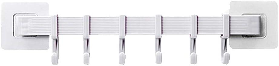 Hook Up Creative Six-koppeling Hook Deur Zonder Ponsen, No Trace, Sterke plakken rij haken duurzaam (Color : 9.5cm, Size :...