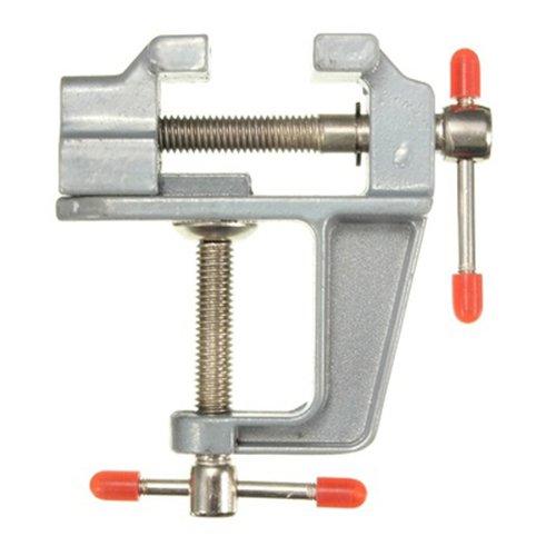 SODIAL(R) Aluminium Miniatur Kleine Juwelier Klemme am Tisch Schraubstock Werkzeug 85mm x 95mm