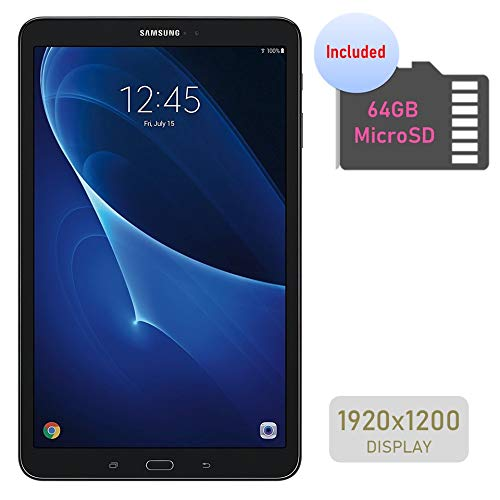 Samsung Galaxy Tab A 10.1'' Touchscreen (1920x1200) Wi-Fi Tablet, Octa-Core 1.6GHz Processor, 2GB RAM, 16GB Memory, Dual Cameras, Bluetooth, 64GB MicroSD Card, Android OS