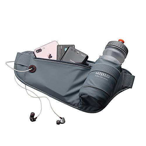 123 TEST Trinkgürtel – Marathon-Gürtel mit Tasche für Wasserflasche, wasserabweisende Hüfttasche, Handyhalter für Outdoor-Sport, Wandern, Reisen, Herren, Damen, Läufer, Hüfttasche