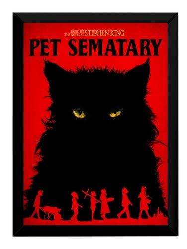 Quadro Arte Pet Sematary Cemitério Maldito Poster Moldurado