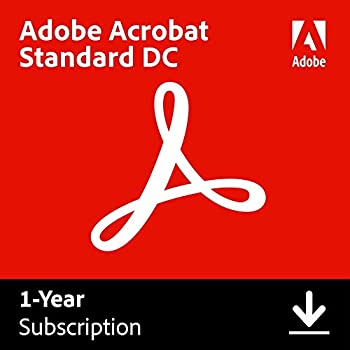 Adobe Acrobat Standard DC | Create edit and sign PDF documents | 12-month Subscription with auto-renewal PC