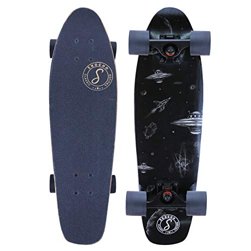 """Arslano UFO 27"""" Mini Cruiser Skateboards Pro, 7 Layer Canadian Maple Deck, Complete Beginner Skate Boards, Designed for Kids, Teens and Adults"""