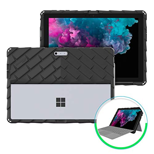 Gumdrop DropTech Case for Microsoft Surface Pro 7 and Pro 6, 2-in-1 Laptop for Office, Business - Black, Shock Absorbing Protection