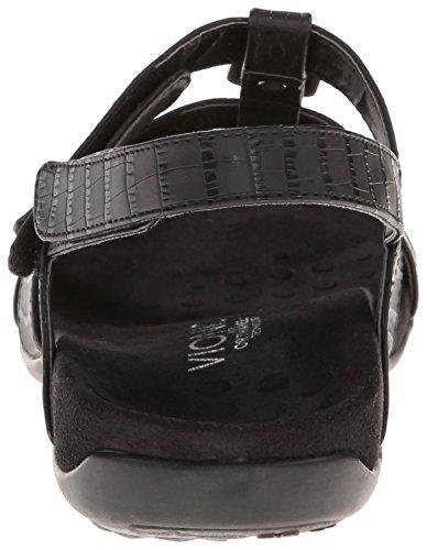 Vionic Women's Amber Sandals Black Croc Synthetic 12 Wide