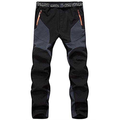 GITVIENAR Hommes Pantalon Étanche Pantalons Hydrofuge Coupe-Vent à Séchage Rapide pour Camping et Randonnée Pêche Escalade en Plein Air Épaississement de la Chaleur