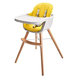 CHENNAO High Chairs for Babies and Toddlers Foldable   Stand-Alone High Chair Highchairs with 5 Point Harness   Removable Tray