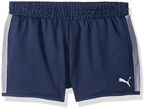 PUMA Big Girls' Match Point Shorts, Sraragasso Sea, Small (7)