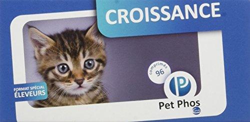 Sogeval/Pet-Phos felin croissance 96 comprimés pour chaton et chat complément minéral et vitaminé