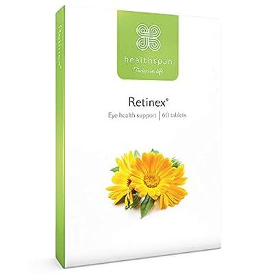 Retinex | Healthspan | 60 Tablets | 10mg Natural Source of Lutein | High Levels of Zeaxanthin | Added Vitamin B2 | Vegan