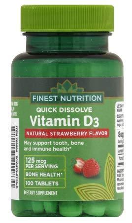 Finest Nutrition Vitamin D3 125 ...