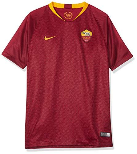 NIKE Camiseta de fútbol 2018/19 A.s. Roma Stadium Home – Camiseta Unisex para niños, Unisex niños, Bañadores Ajustados para Hombre, 919263, Team Red/University Gold, Medium
