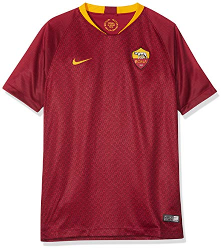 Nike Kinder Trikot Roma Breathe Stadium Jersey Short-Sleeve Home, Team red/University Gold, M, 919263-677