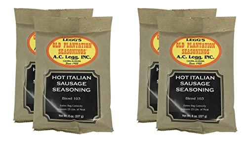Condimento de salchicha italiana caliente, 2 paquetes – 8 onzas cada uno (paquete de paquete)