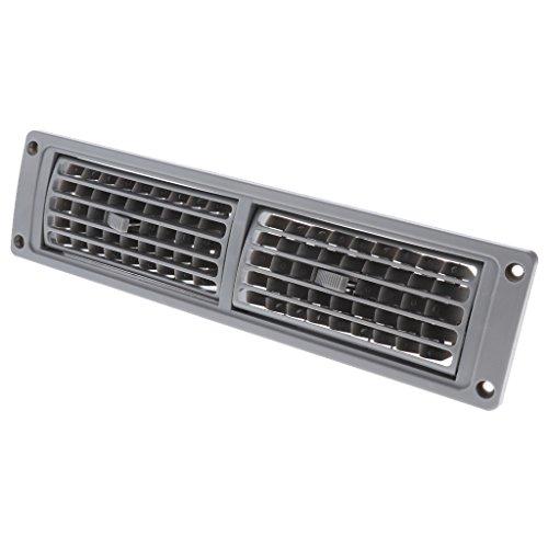 Universal Car RV Barco Marino Calor A/C Persiana Ventilación Rejilla de Salida de Aire - Gris