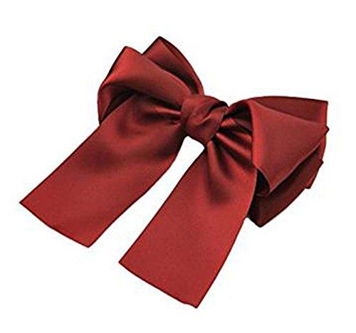 Unbekannt Mode Rot Groß Schleife Bowknot Haar Klammern Hochzeit Braut Haarspange Damen Mädchen Kopfschmuck von SamGreatWorld