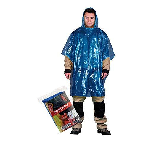 PONCHO-F_G beschermende regenponcho, donkerblauw, effen maat, 20 stuks