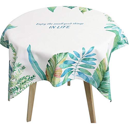 WFSDKN Tafelkleed Waterdicht Tafelkleed Party Bruiloft Decoratieve Tafelkleed Vierkante Tafelhoes met Bloemenbladeren Witte mantels Stofdicht