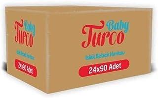 Baby Turco Islak Havlu Mendil 90 Yaprak, 24'lü, 2160 Yaprak