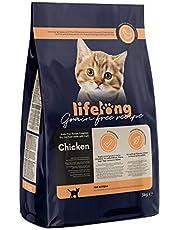 Marca Amazon Lifelong Alimento seco para gatitos con pollo fresco, receta sin cereales - 3kg