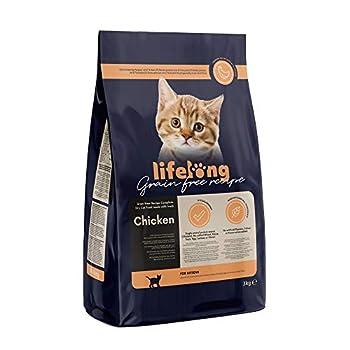 Marque Amazon Lifelong Aliment pour chatons sans céréale, élaboré avec de la viande fraîche de poulet - 3kg