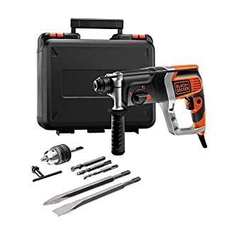 Black+Decker Pneumatischer Bohrhammer KD990KA – Kraftvoller SDS-Bohrhammer mit Zweithandgriff und 2,4 J Schlagenergie zum Bohren, Hammerbohren & Meißeln – 1 x Schlagbohrhammer 850 W (B003BU6JH4) | Amazon price tracker / tracking, Amazon price history charts, Amazon price watches, Amazon price drop alerts