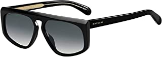 Givenchy GV7125/S 807 Black GV7125/S Rectangle Sunglasses Lens Category 2 Size, 55mm