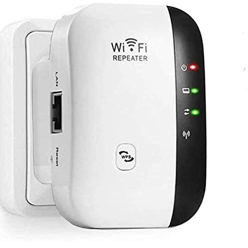 WLAN Booster, WLAN Verstärker 300Mbit/s 2,4GHz WiFi Range Extender, Fast-Ethernet Port, WPS Taste, Mini WLAN Verstaerker Receiver Kompatibel mit Allen WLAN Geräte