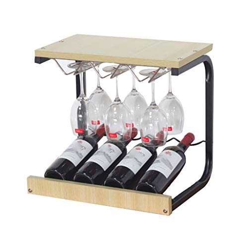 JJ Botelleros,para 4 Botellas ,Madera,43.5 * 39.8 * 31 Cm