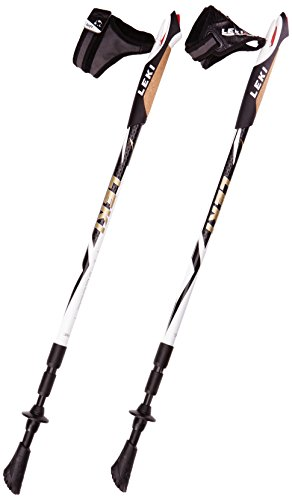 LEKI Nordic Walking Stöcke Traveller, White, One size