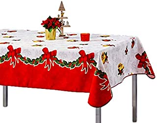Promo Linge Nappe de Noël Anti-Tâches - Cloche (150_x_300_cm)