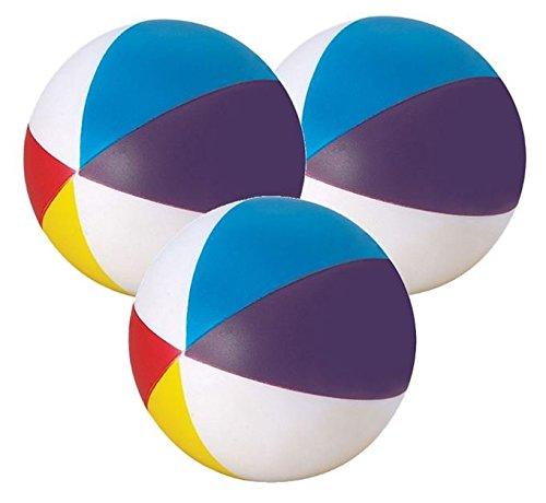 Stressballs 3 x Wasserball - Stress Ball Knautschball Antistressball - Stressballs, Kleiner Ball, Atlas, Weltkarte mit 3D Relief