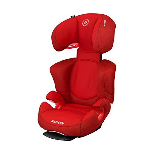 Maxi-Cosi Rodi AirProtect Kindersitz, Autositzerhöhung mit hoher Rücklehne, 3,5 - 12 Jahre, 15 - 36 kg, Nomad Red (rot)