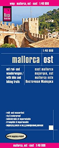 Reise Know-How Rad- und Wanderkarte Mallorca Ost (1:40.000): world mapping project