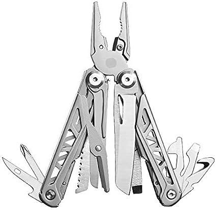 alicates Plegables de Acero Inoxidable para Acampar al Aire Libre Herramienta de Mano GHK6-black JZCXKJ Herramienta de alicates Plegables multifuncionales para Exteriores