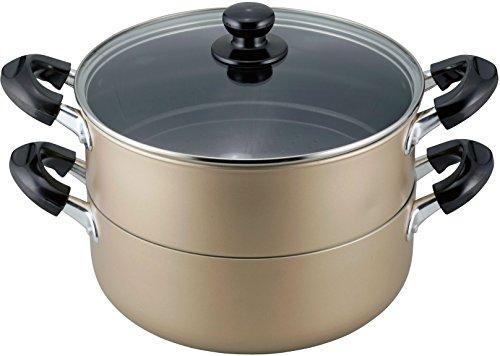 和平フレイズ 蒸し器 二段 蒸し料理 おおらか鍋 25cm もち米5合 大型サイズ IH対応 ふっ素樹脂加工 OR-7132