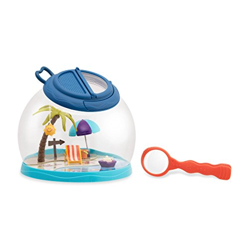 B. toys by Battat Tiki Retreat Bug Catcher Kit – 1 Bug Cage with Tweezers & Magnifying Glass – Bug Toys for Kids 4+